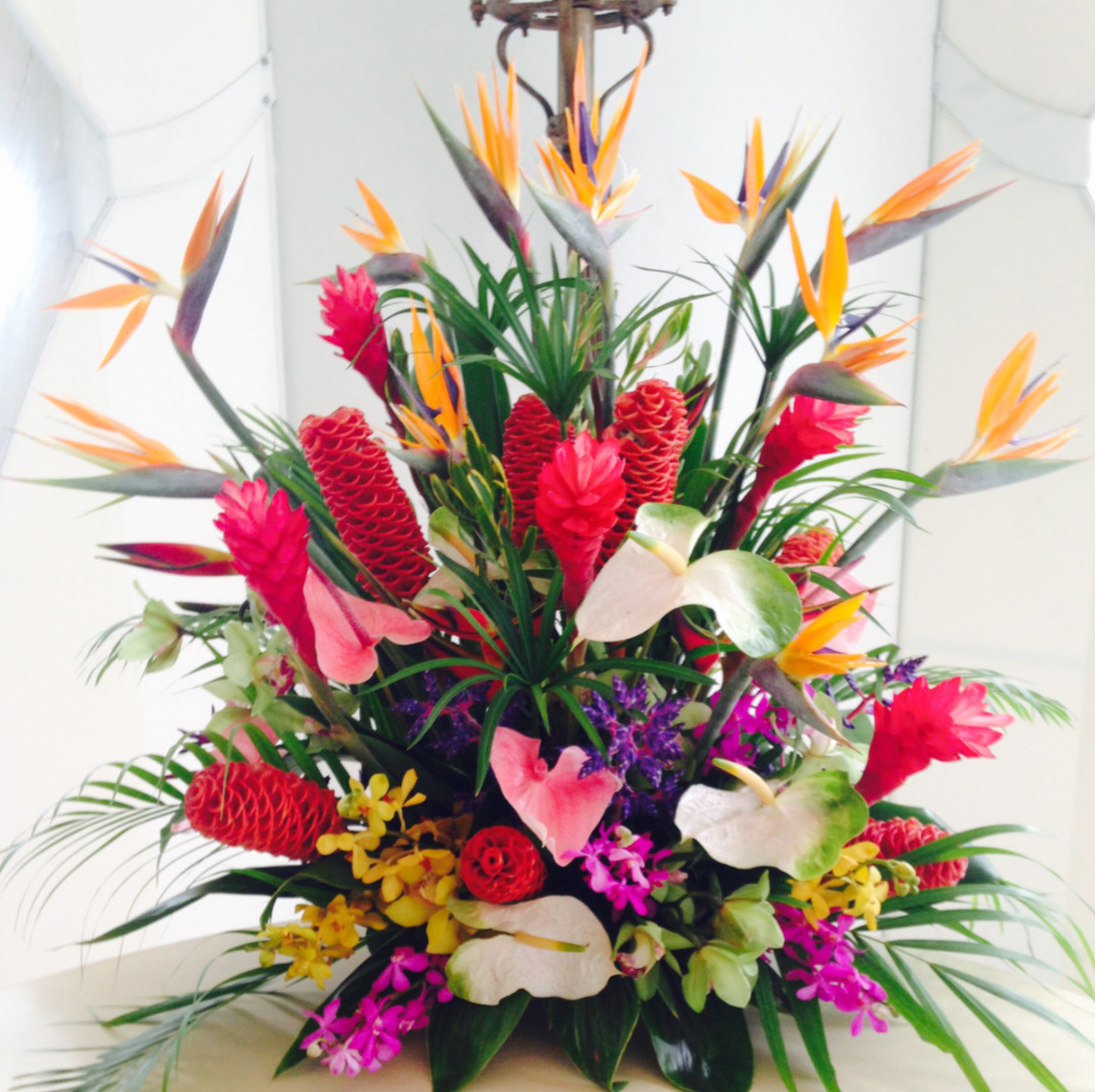 Colorful Tropical Centerpiece Velene's Floral