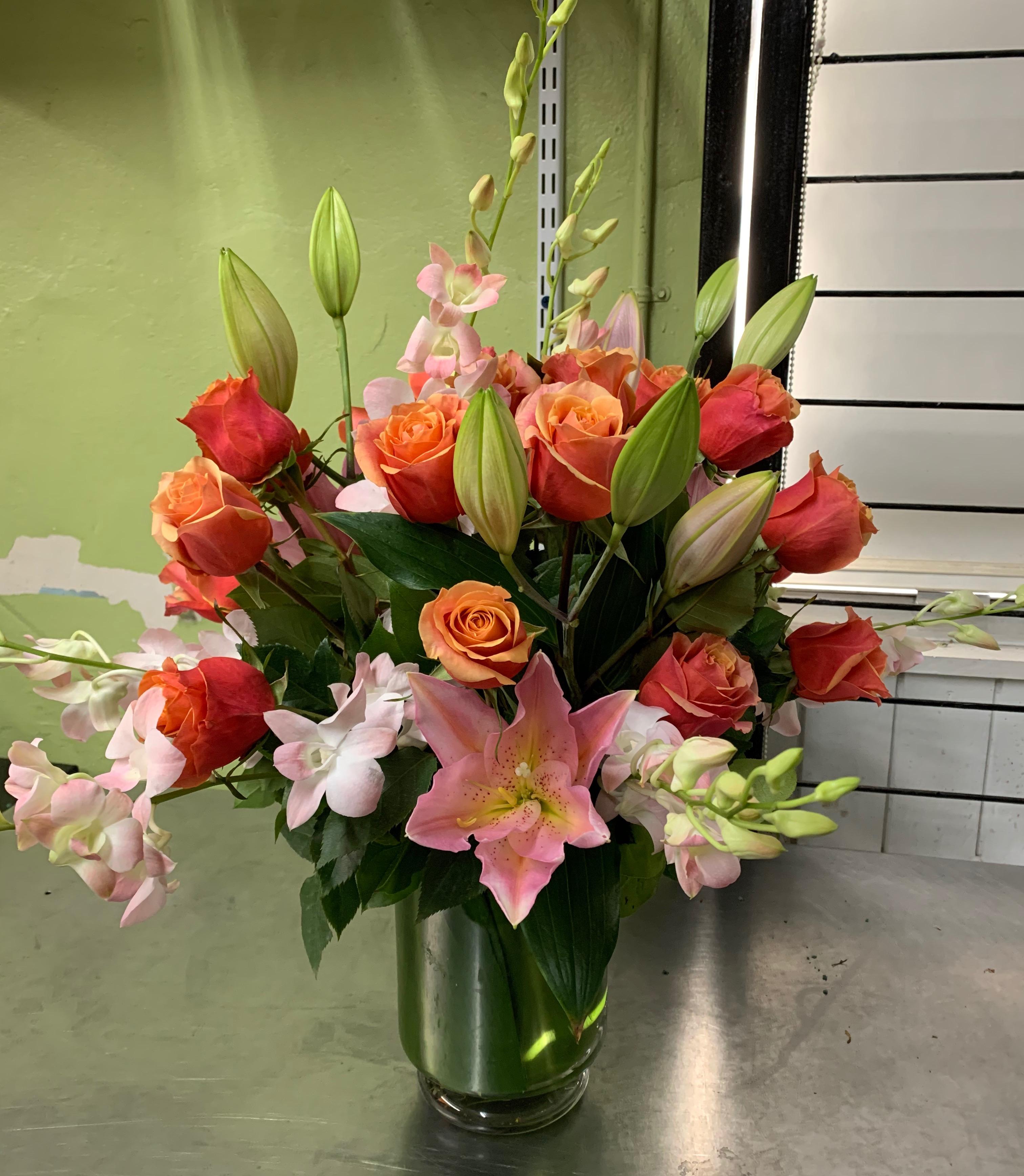 Delicate Pinkish Floral Arrangement Velene's Floral