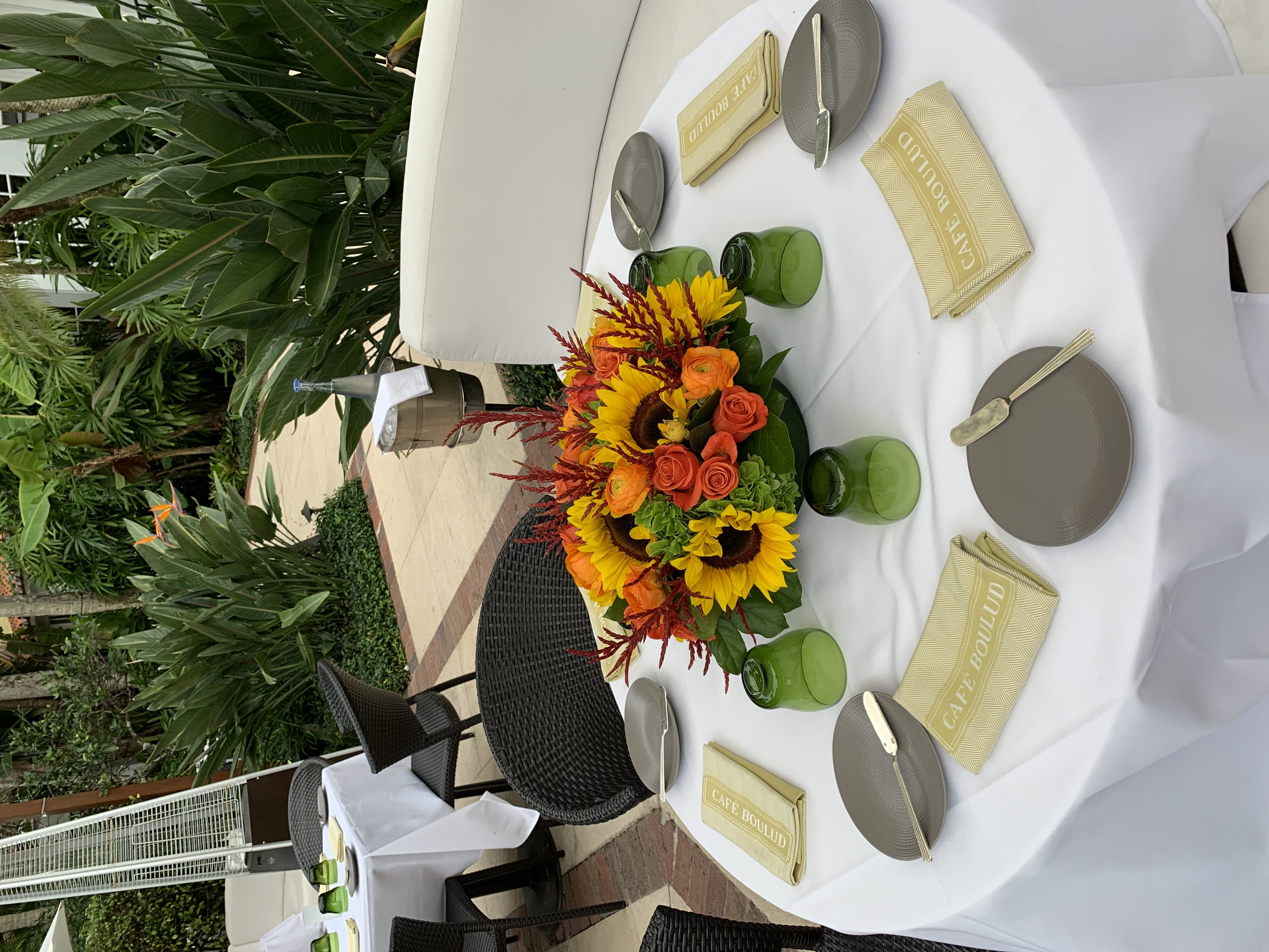 Magnificent Dining Centerpiece with Sunflowers! Velene's Floral