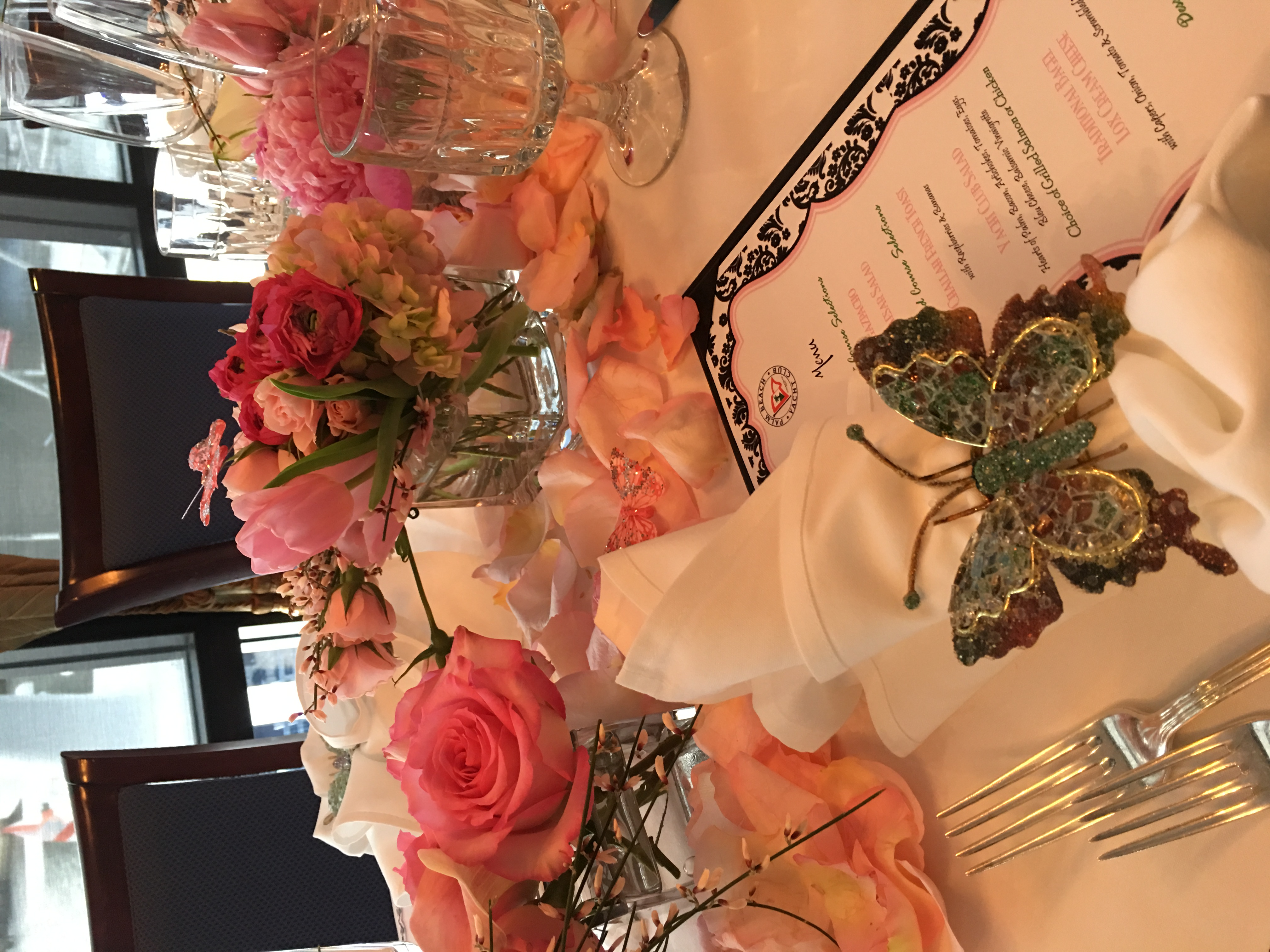 Mini Pink Arrangements at a Dining Table Velene's Floral