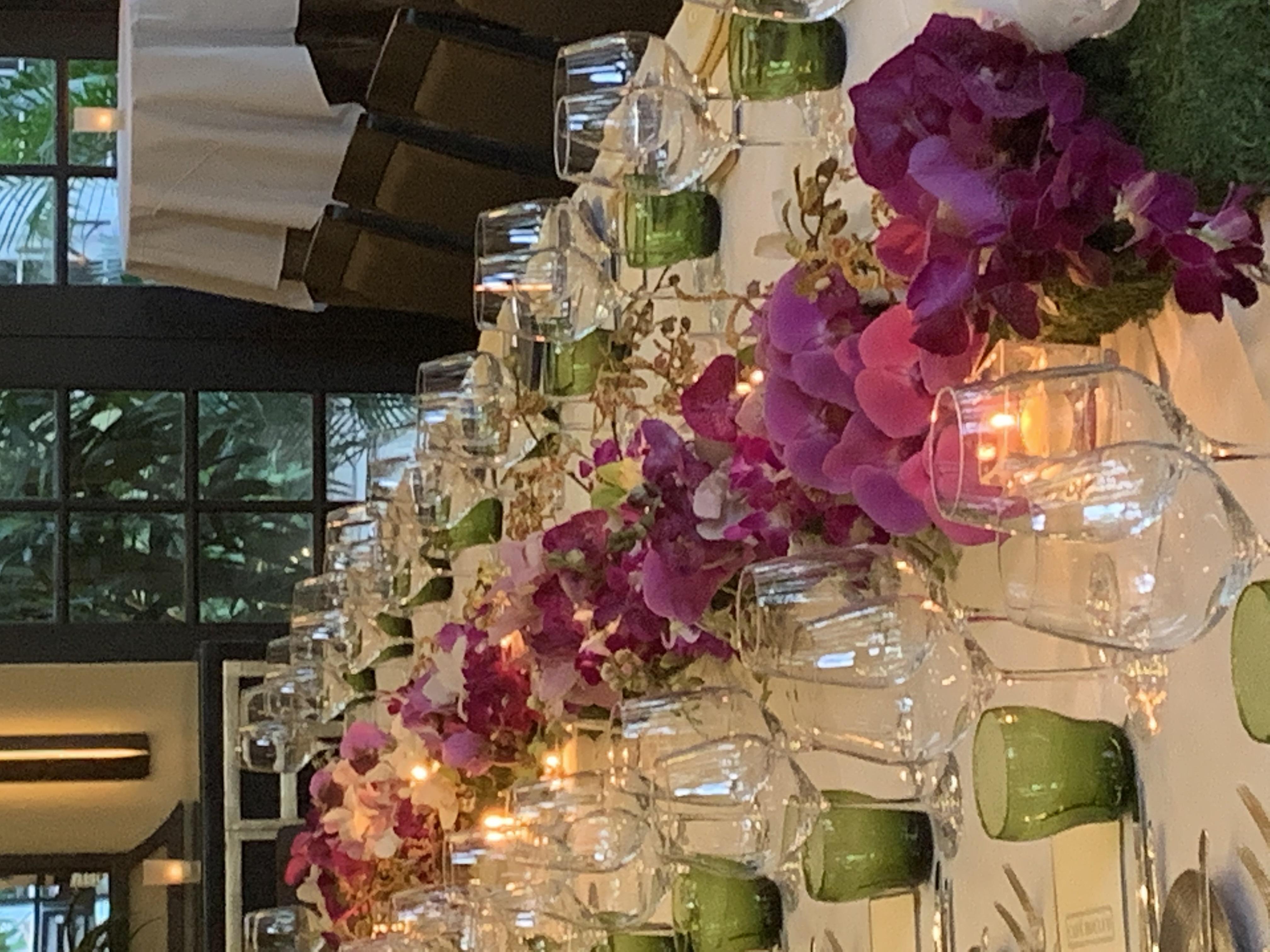 Purple Restaurant Floral Set Velene's Floral