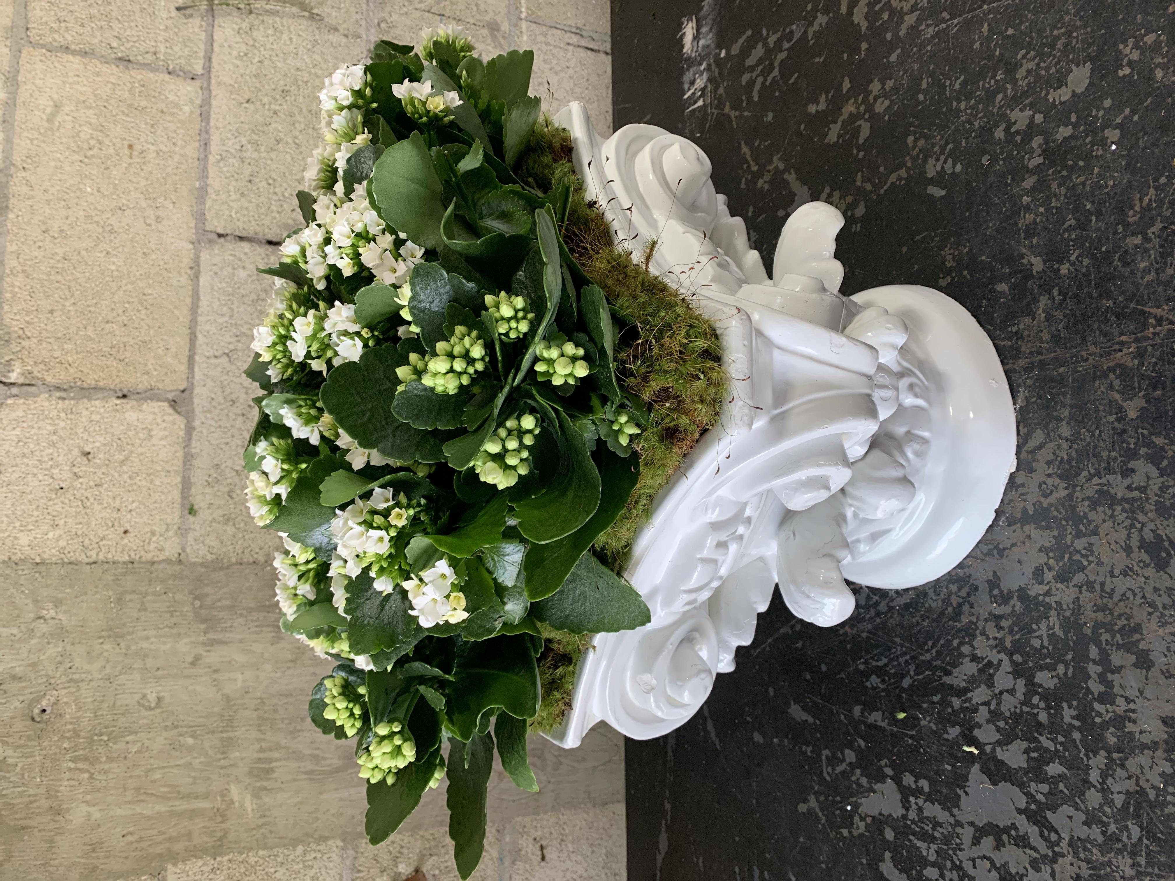 Ceramic Vase full of Green Velene's Floral
